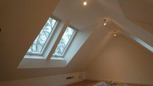 Eingebaute Velux Dachfenster